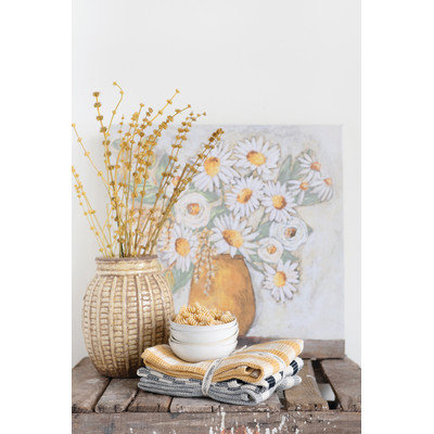 """20"""" Square Flowers in Vase Canvas Wall Decor (Set of 2 Styles)"""