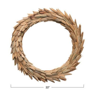 Handmade Dried Natural Buri Leaf Wreath