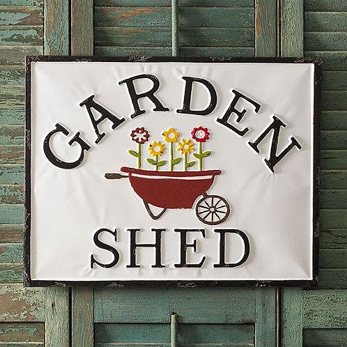 Garden Shed Metal Sign