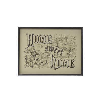 "15.75""W ""Home Sweet Home"" Metal Framed Wall Decor"