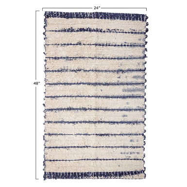 2' x 4' Cotton Woven Tie-Dyed Rug