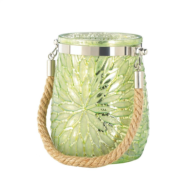 Green Flower Candle Holder