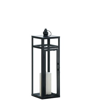 Black Dramatic Geometry Lantern