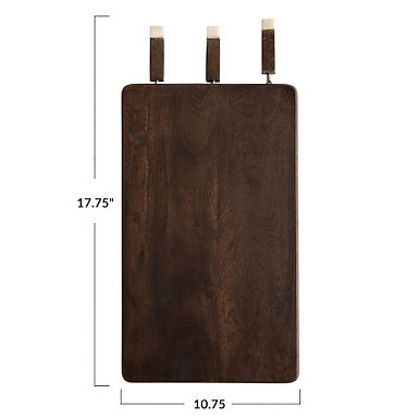 Acacia Wood Entertaining Board with Knives