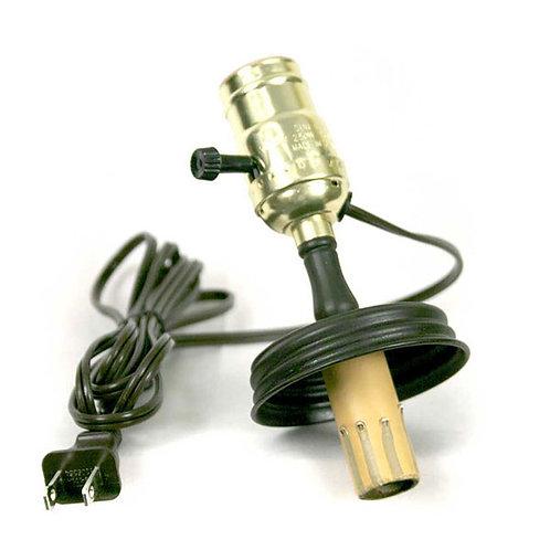 Double Socket Mason Jar Lamp Adapter (4-Way Socket)