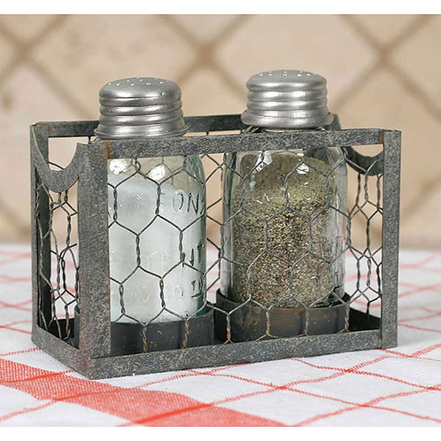 Chicken Wire Salt and Pepper Caddy - Box of 2