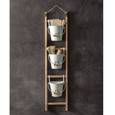 Hanging Ladder with Numbered Buckets