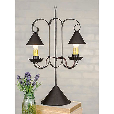 Double Lamp with Hanging Shades