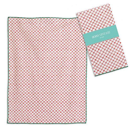 Coralee Tea Towel - Box of 4