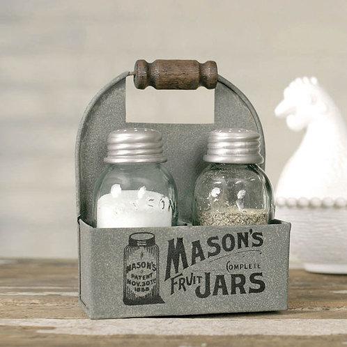 Masons Jars Box Salt and Pepper Caddy - Box of 2