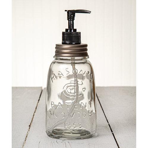 Midget Pint Mason Jar Soap/Lotion Dispenser - Zinc