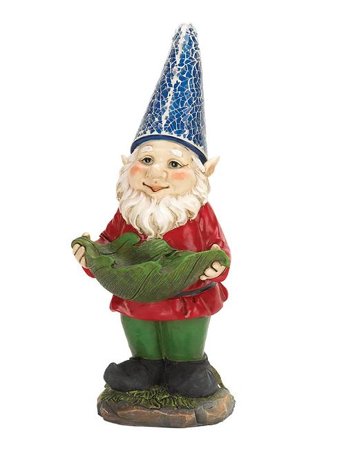 Bird Feeder Gnome Solar Garden Statue