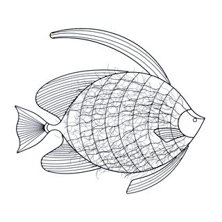 Intricate Fish Wall Decor