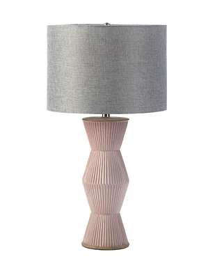 Gable Pink Ridges Table Lamp