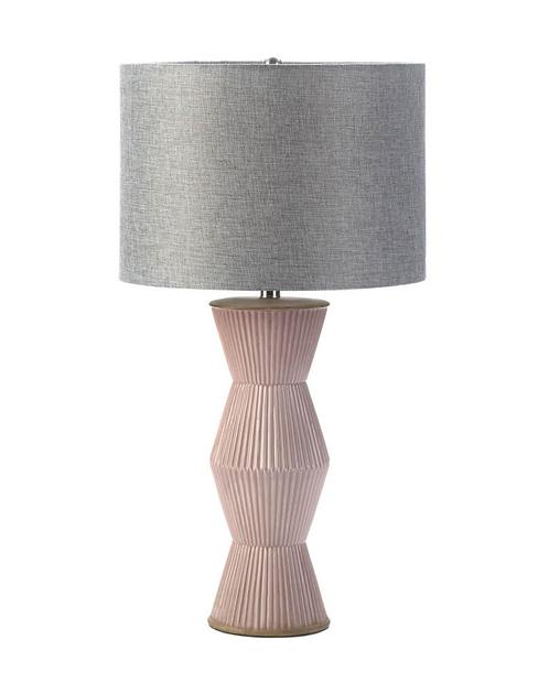 Gable Pink Ridges Table Lamp