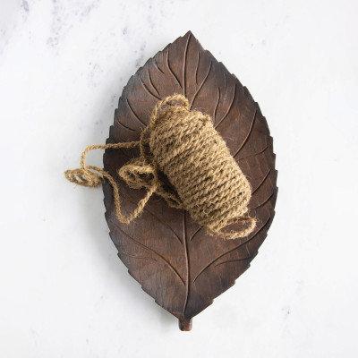 Hand-Carved Mango Wood Leaf Tray