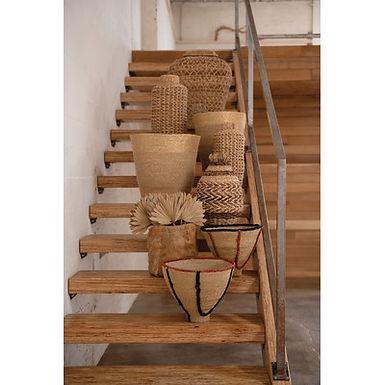 Handmade Coca Leaf Baskets w/ Plastic Lining (qty 3 Sizes/Each one will vary)