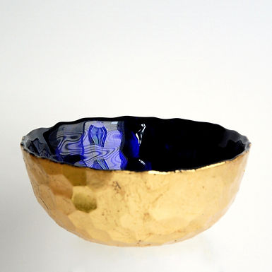 "HIVE 6"" Sapphire/Gold Bowl"