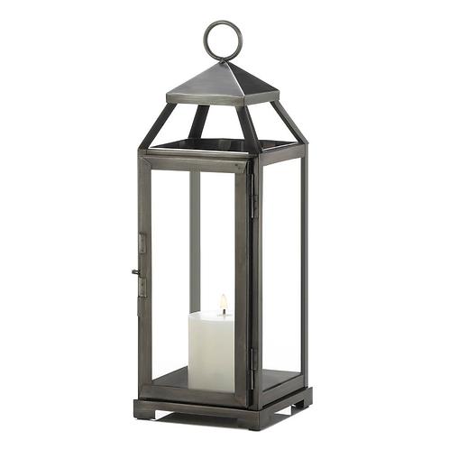 Medium Brushed Pewter Lantern