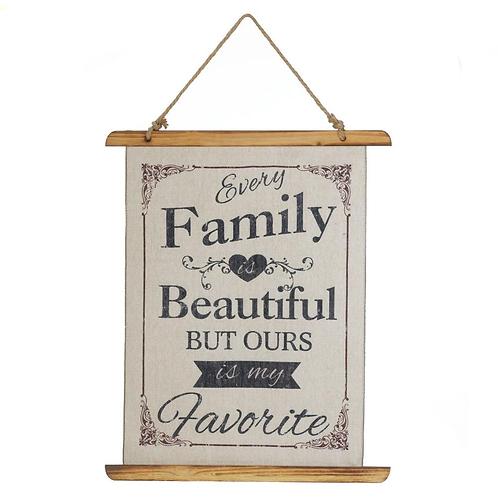 Beautiful Family Linen Wall Art