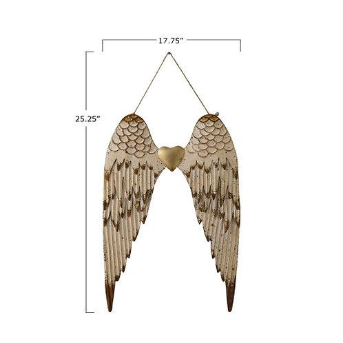 Metal Angel Wings Wall Decor