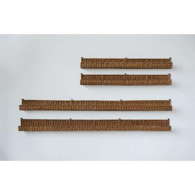 Handwoven Rattan Wall Shelf