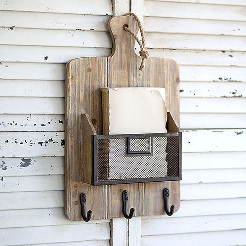 Cutting Board Basket with Hooks