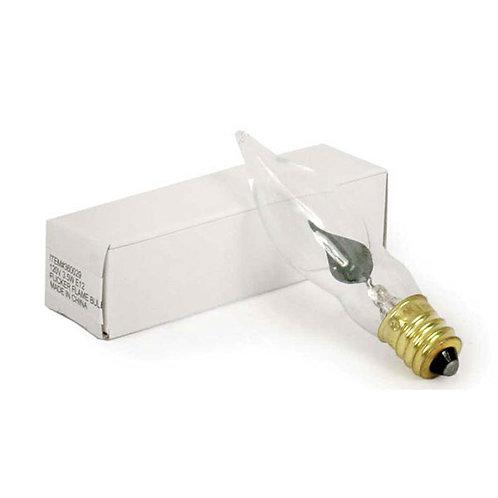 3.5 Watt Clear Flicker Bulb - Box of 25