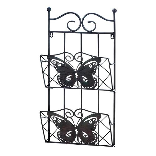Butterfly 2-Tier Magazine Wall Rack