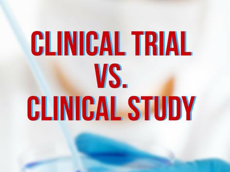 Clinical Trials vs Clinical Studies