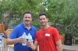 Member Vinny with Jeffrey