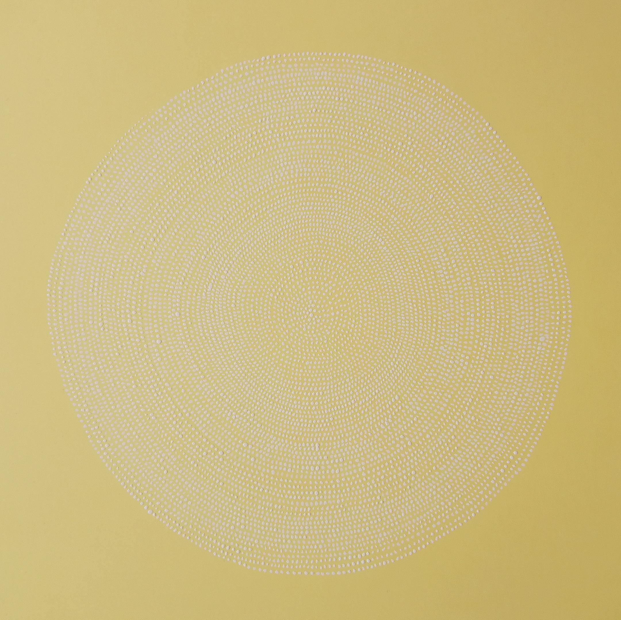 SANS TITRE, encre blanche, 23 x 23 cm, 2