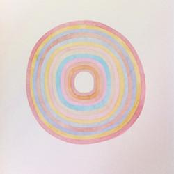 SANS TITRE. Cercles, rose bleu