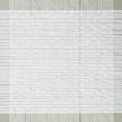 SANS TITRE. Tissage de papiers blancs.