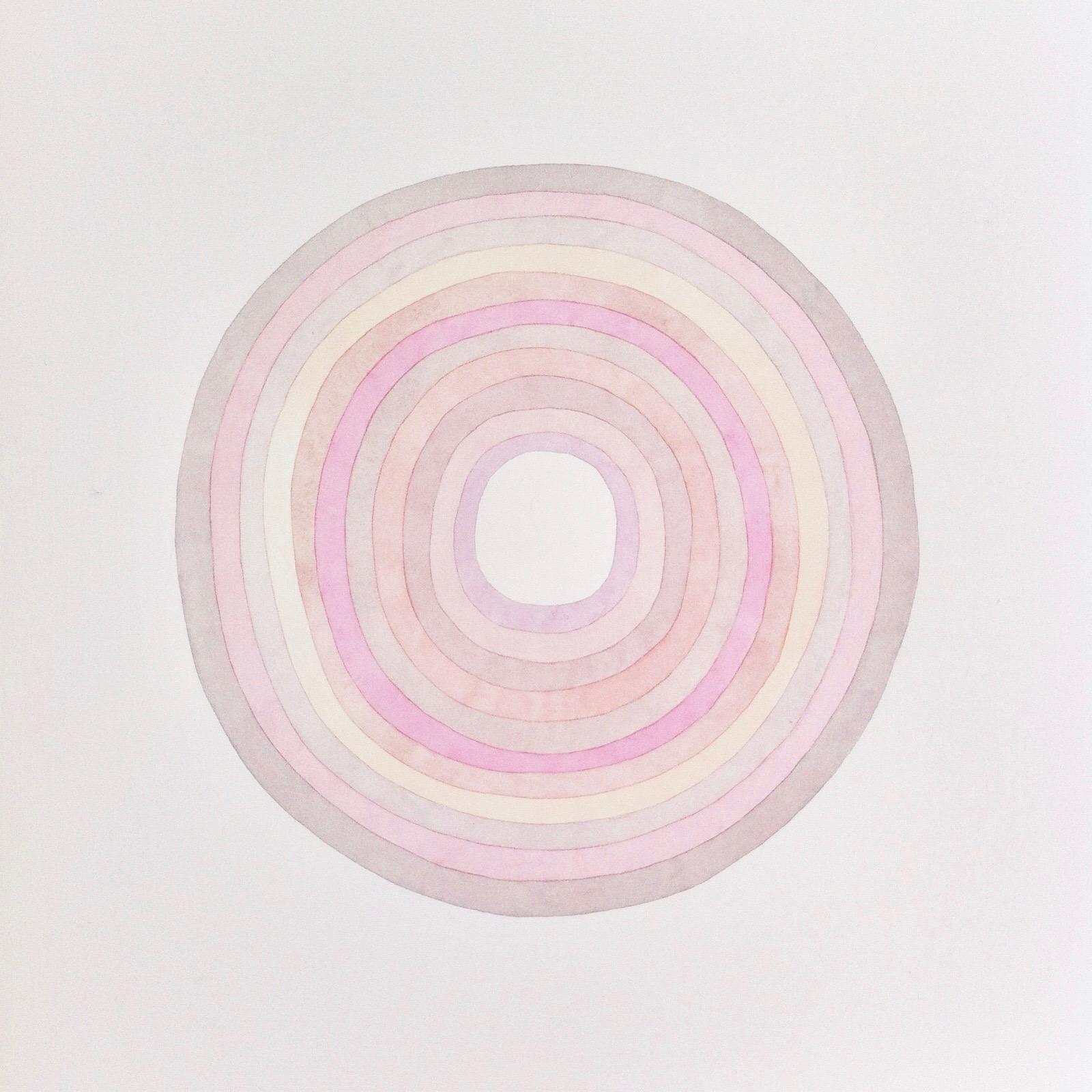 Sans titre, cercles, rose/gris