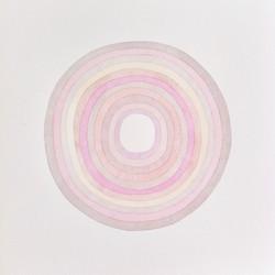 SANS TITRE. Cercles, rose gris