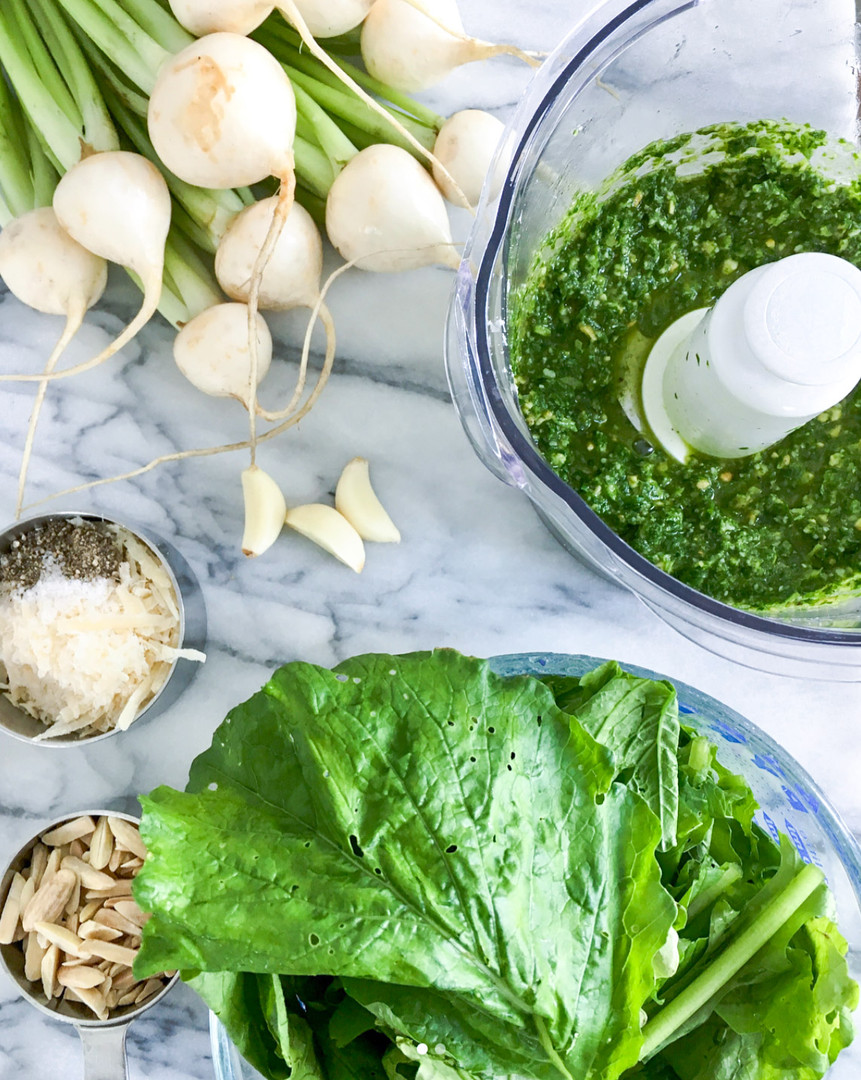 Turnip Greens Pesto