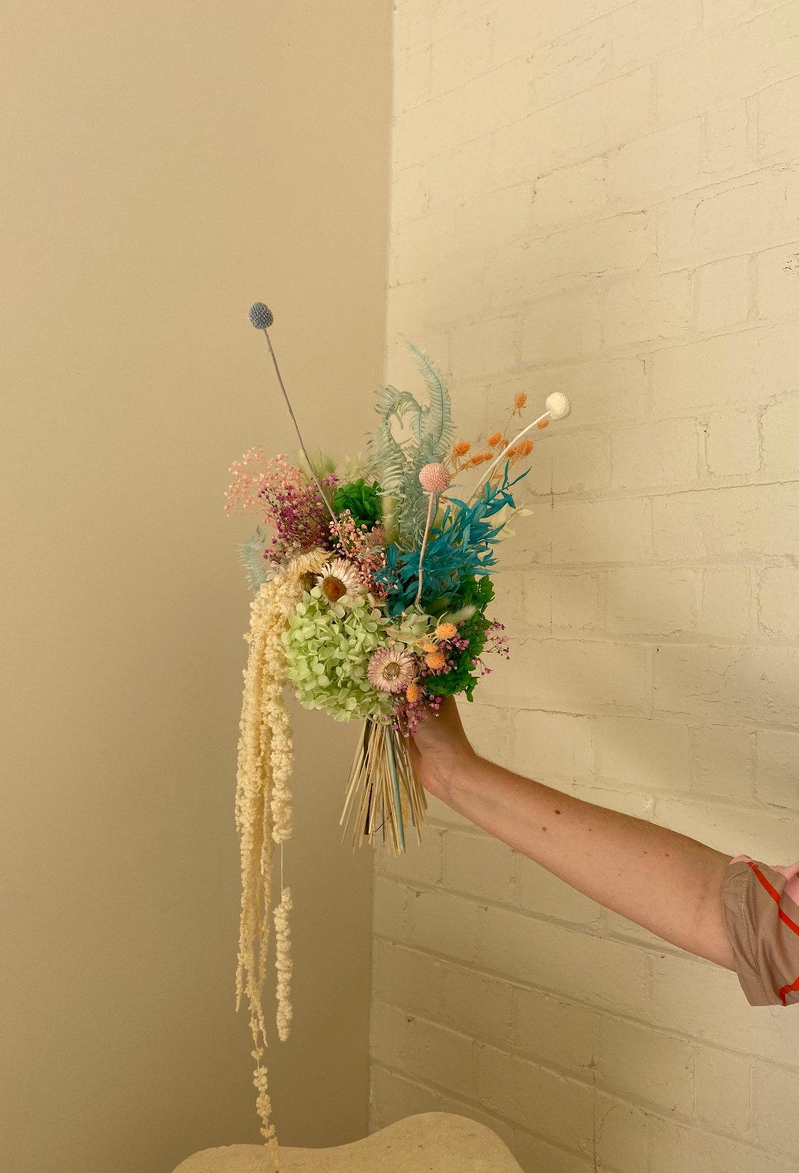 Pisces inspired everlasting floral arrangement handmade by Melbourne Floral Artist xxflos