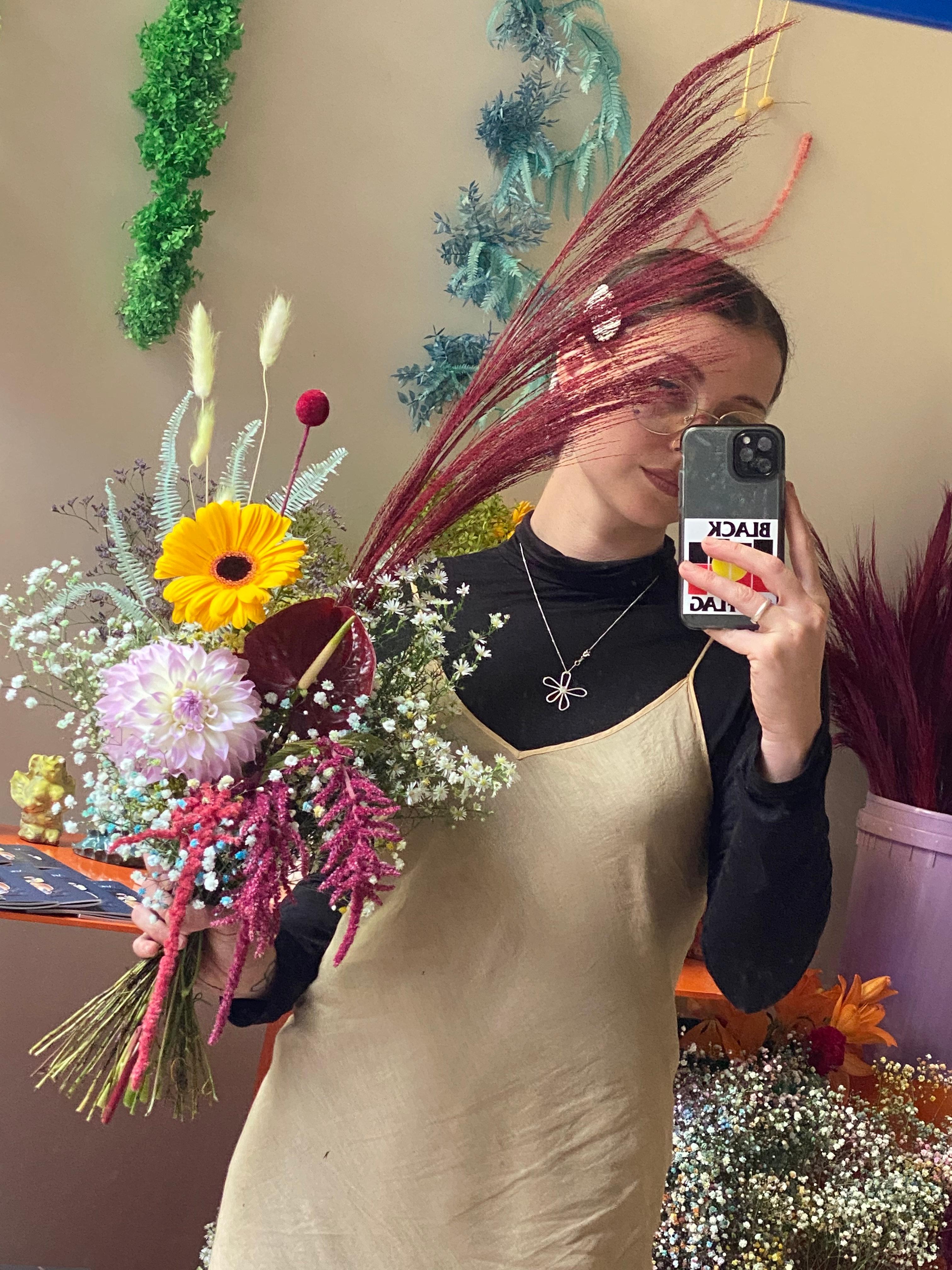 Everlasting and fresh floral arrangement  held by Melbourne Floral Artist xxflos