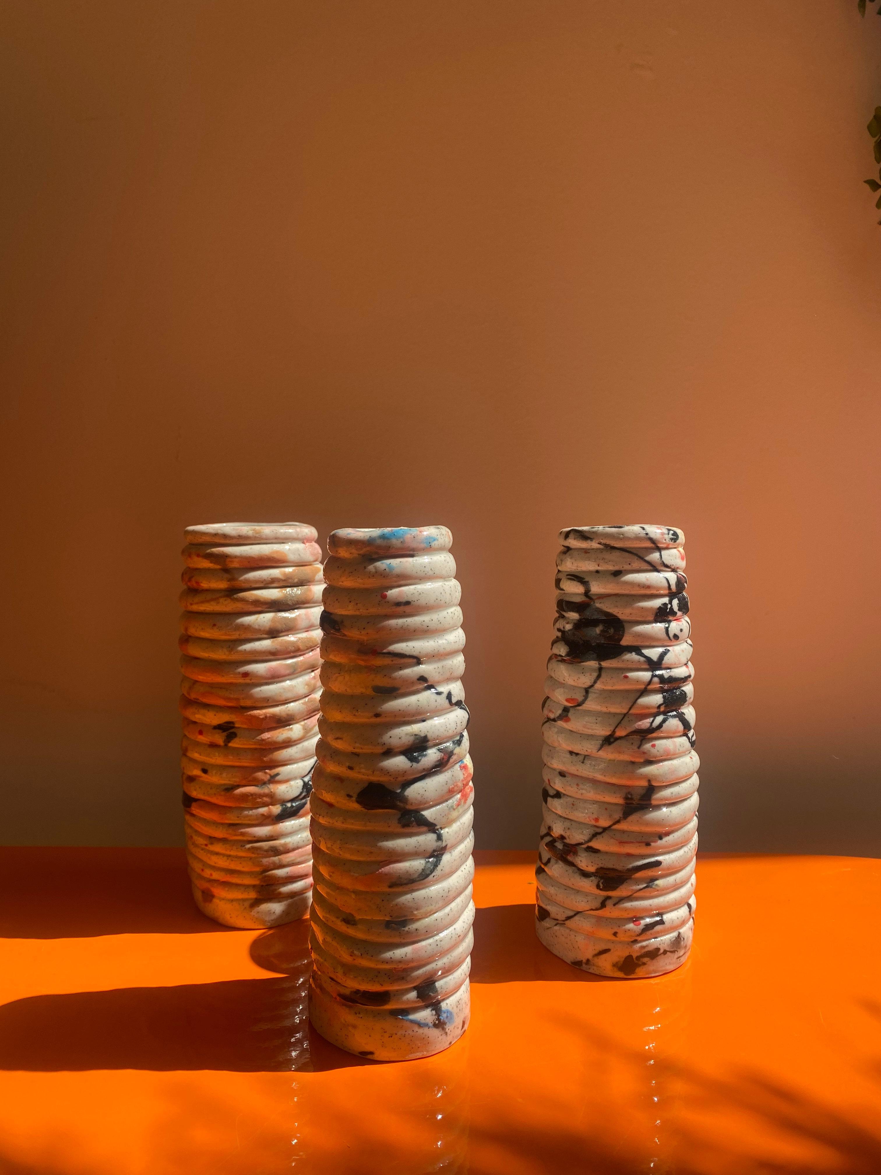 Handmade ceramic vases in Melbourne by Alysha Jenkins Ceramics for local Floral Artist xxflos