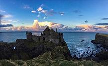 Banner Dunluce Castle evening CC WI tnai