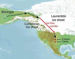 Ice Age Clovis first model ice free corr