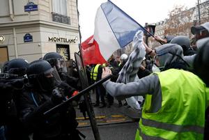 Yellow vests, gillets jaunes protests in Paris