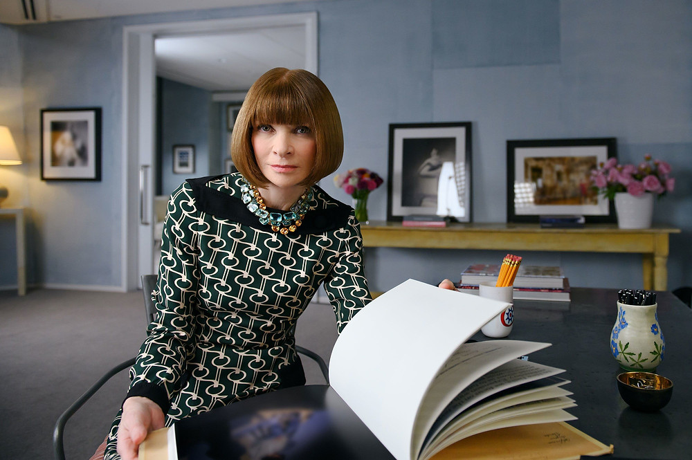 Anna Wintour without glasses on at Vogue