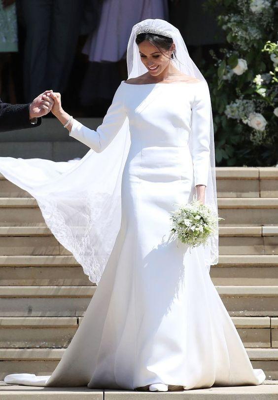 meghan marble wedding dress shape