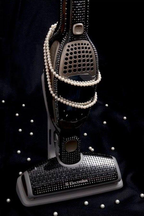 designer hoover, designer vacuum, swarovski hoover, swarovski vacuum, black edition electrolux, fancy vacuums