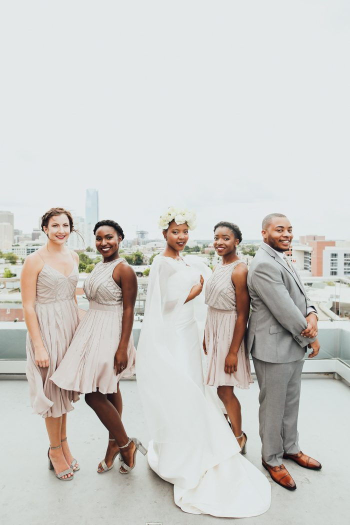bridal party photograph, wedding photograph of gender neutral wedding party