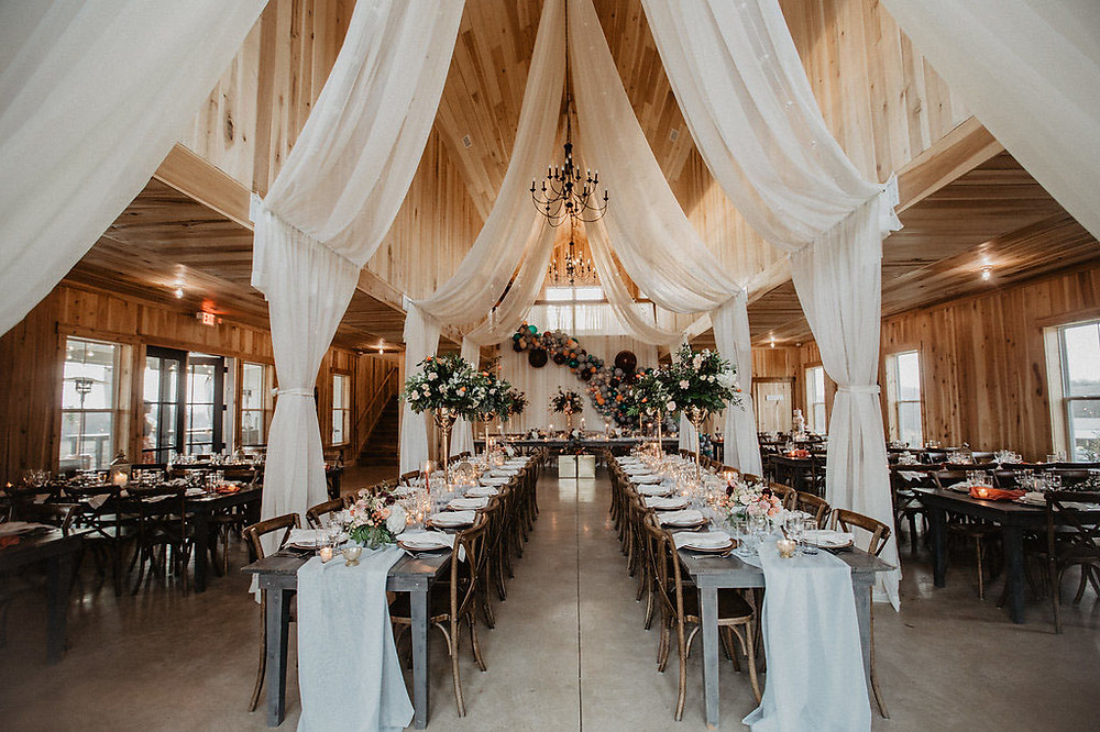 wedding banquette table decor set up