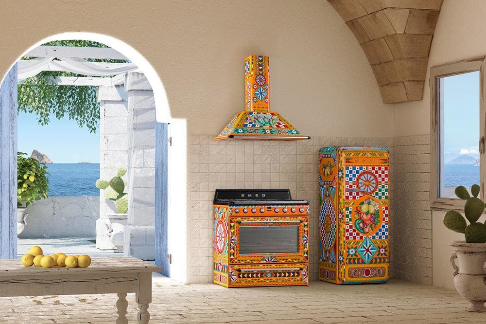 Dolce & Gabbana kitchen, Dolce & Gabbana, D&G kitchen, D&G fridge, dolce and gabbana fridge, dolce and gabbana kitchen, designer kitchen, designer kitchen goods