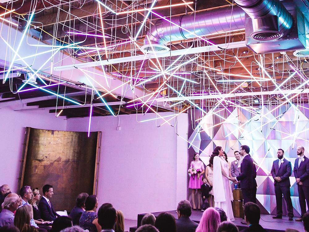fluorescent lighting for weddings